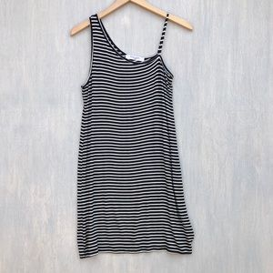 Project Social T striped tee shirt dress M